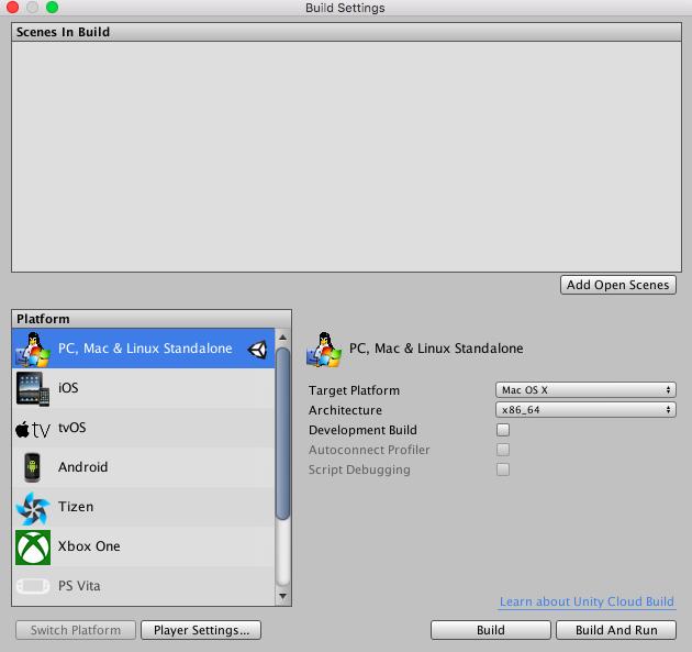 Unityでプラットフォームを最初から指定して起動する方法